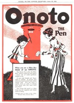 Onoto pillar box ad